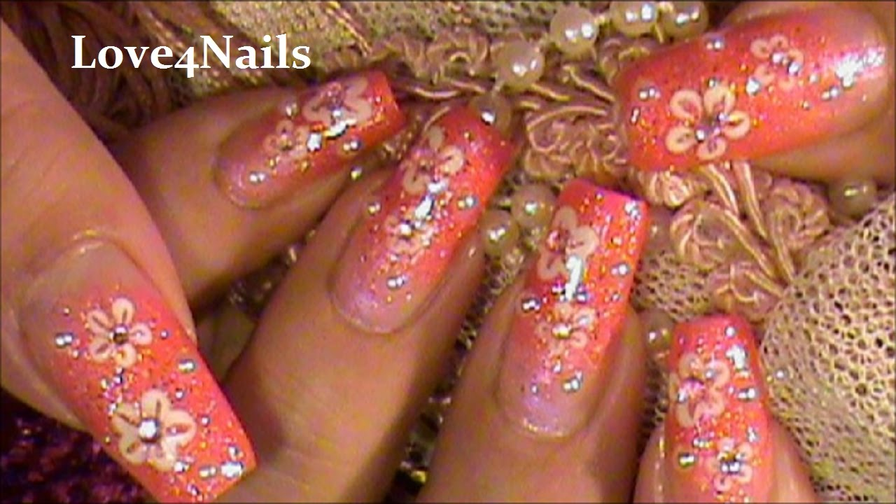 Easy Beginer Nail Art Tutorial - YouTube