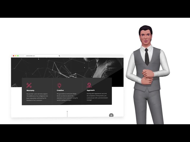 AvatarBuilder Demo Project: Background Mockup Showcase (Web Design Agency) - Top Video Tools