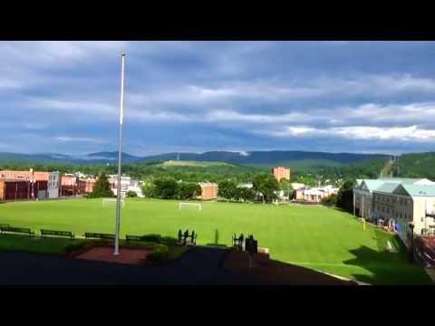 Fishburne Military School. Shadow falling Across Field!