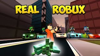 ROBUX Giveaway EVERY 10 Minutes While Robbing Stores In JAILBREAK
