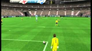 FIFA 11 (Wii) Gameplay: England vs Scotland