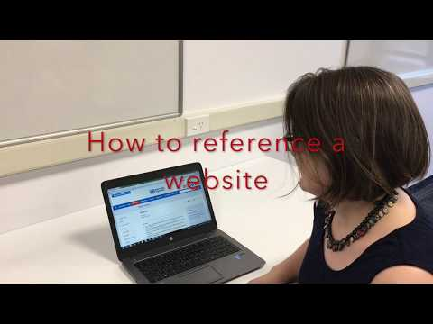 Referencing a website in APA style