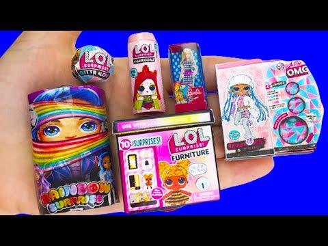 cool-diy-barbie-miniature-lol-surprise-hacks-and-crafts-!!!