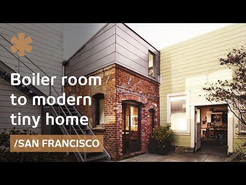 San Francisco brick boiler room turned industrial tiny house - YouTube