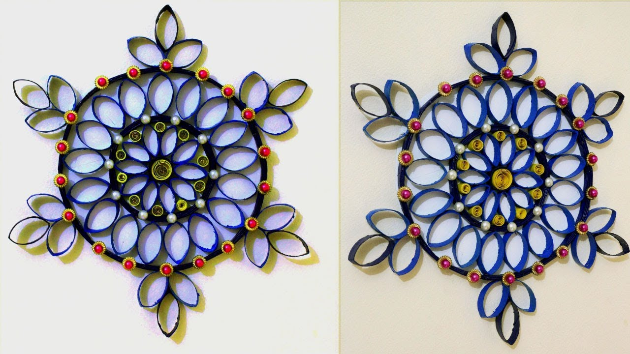 Diy Latest Wall Decoration Idea Wall Decoration Flowers With Toilet Paper Rolls Room Decor Youtube