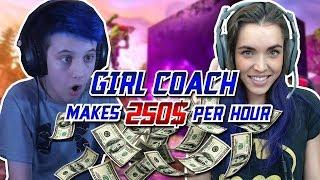 This Fortnite Coach Makes $250/hr as a Girl...