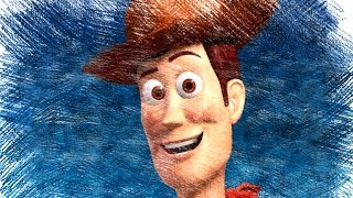 Toys Story Pixar Cartoon Characters Color Pencil Drawings HD Video For Kids