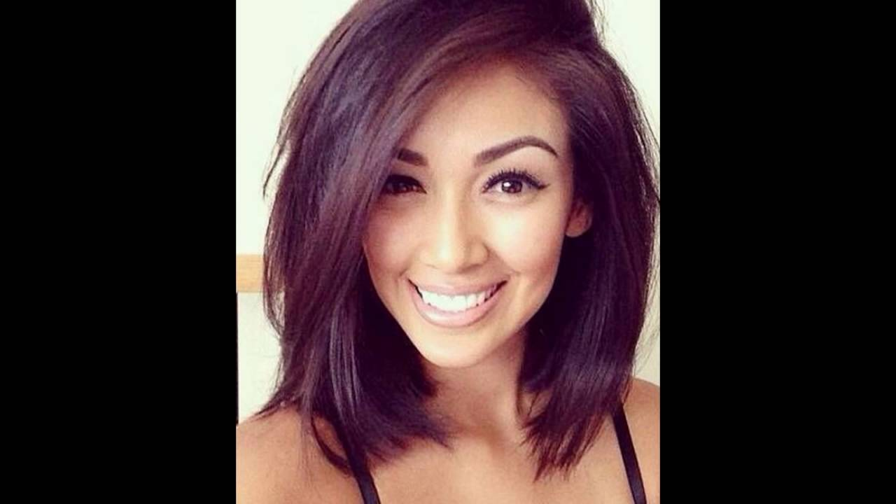 Layered Medium Bob Hairstyle for Thick Hair - YouTube