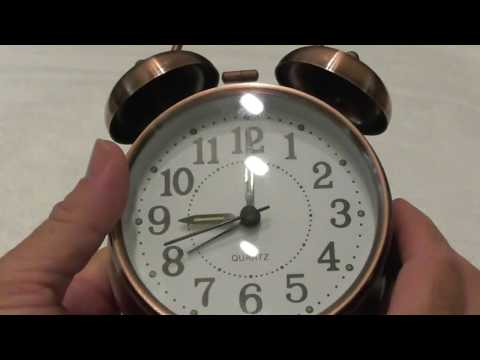"""Peakeep 4"""" Twin Bell Alarm Clock (Bronze_ LARGE Dial REVIEW"""