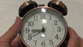 "Peakeep 4"" Twin Bell Alarm Clock (Bronze_ LARGE Dial REVIEW"