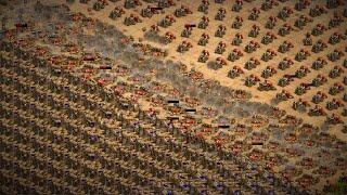 1,200 Siege Onager (Celts) VS 1,200 Bombard Cannons (Turks) - AoE2:DE