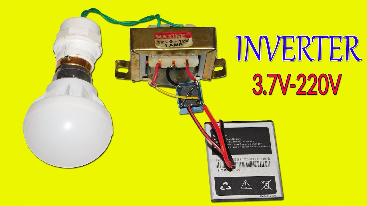 Simple Inverter 37v Dc To 220v Ac Using Relay Youtube Circuit Diagram 220 Volts