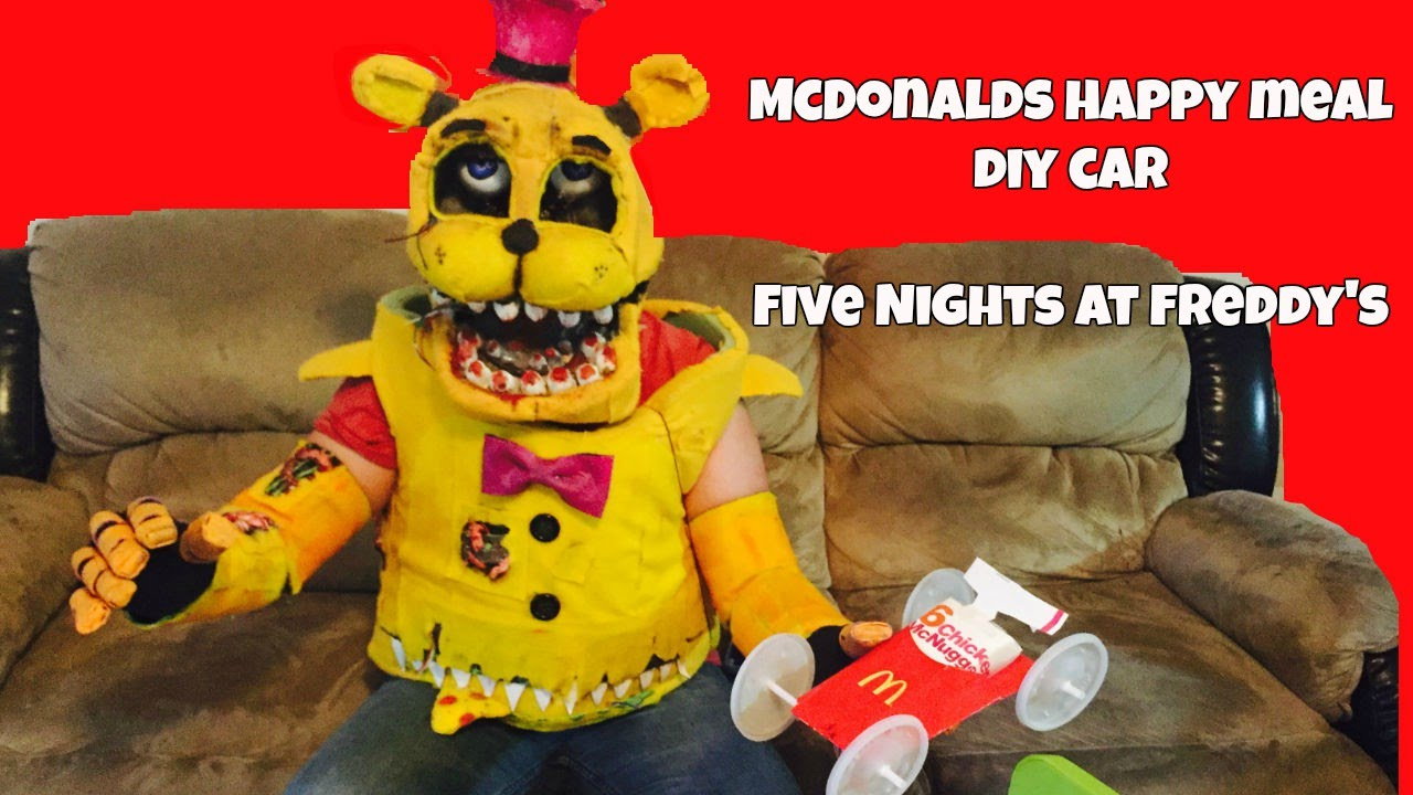 How to make your own five nights at freddys foxy plush - Mcdonald S Happy Meal Diy Car Five Nights At Freddy S Fredbear Foxy Bonnie Balloon Boy Toy Chica Youtube