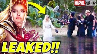 The eternals movie is being filmed and we got actual leaked photos of angelina jolie playing thena one eternals! pics here: https://twitter.com...