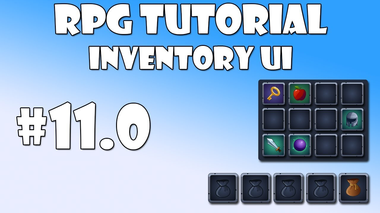 #11 0 Unity RPG Tutorial - Inventory UI