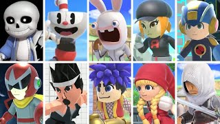 Super Smash Bros Ultimate - All Mii Fighter Trailers (Including Cuphead)