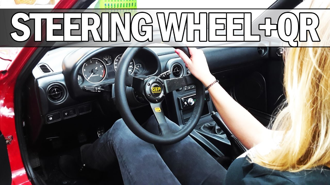 hight resolution of mx5 na miata how to install a deep dish steering wheel with quick release youtube