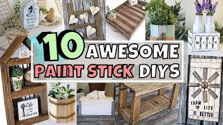 10 Paint Stick DIYS/Paint Stick Farmhouse DIYS/Paint Stick Crafts/Dollar Tree Diy