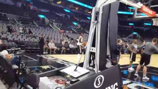 Courtside at the Spurs game with LaMarcus Aldridge & Patty Mills