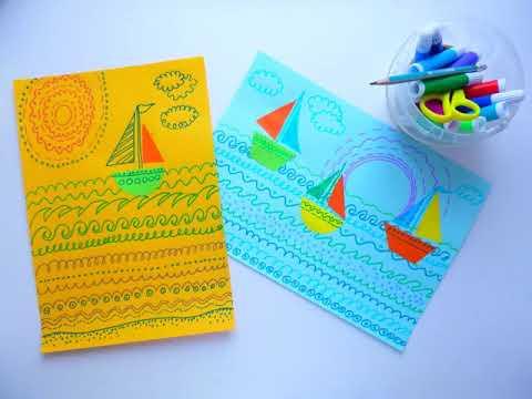 1 клас. Мистецтво. Тема: На Дніпровських хвилях. Малюємо різними лініями хвилі