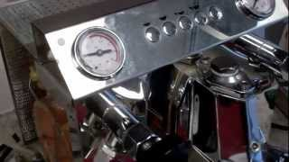 Draining the boiler and heat exchanger of a Vibiemme Super HX espresso machine with reservoir
