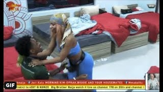 BBNAIJA 2019 (DAY 5) : MERCY INVITES IKE FOR SOME TOUCHES ON HER BED