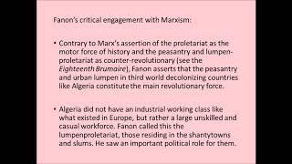 Fanon and Decolonization