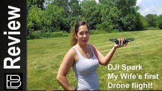 DJI Spark: My wife's first drone flight