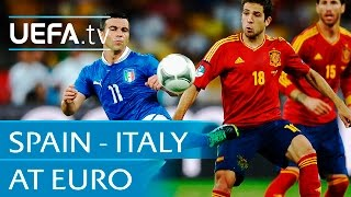 Italy v Spain at EURO: Highlights
