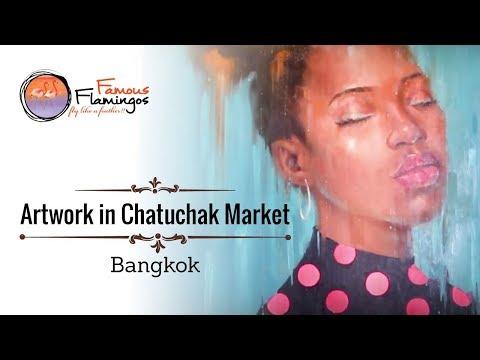 Artwork in Chatuchak Market, Bangkok
