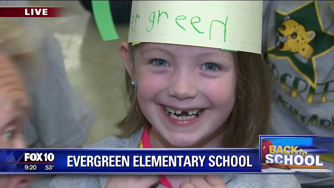 Back to school: Evergreen Elementary School