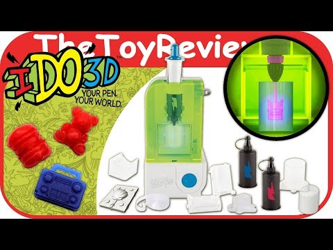IDo3D Print Shop Create I Do 3D Toys DIY LED Light Pen Mold 4D Unboxing Toy Review by TheToyReviewer