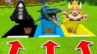 Video Minecraft PE : DO NOT CHOOSE THE WRONG SECRET BASE! (The Nun, Mosasaurus & Bowsette) download MP3, 3GP, MP4, WEBM, AVI, FLV Oktober 2018