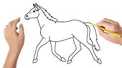 Como Desenhar Um Cavalo Passo A Passo | Desenhos Para Crianças ❤️