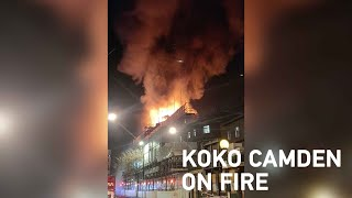 Iconic theater in London engulfed in flames