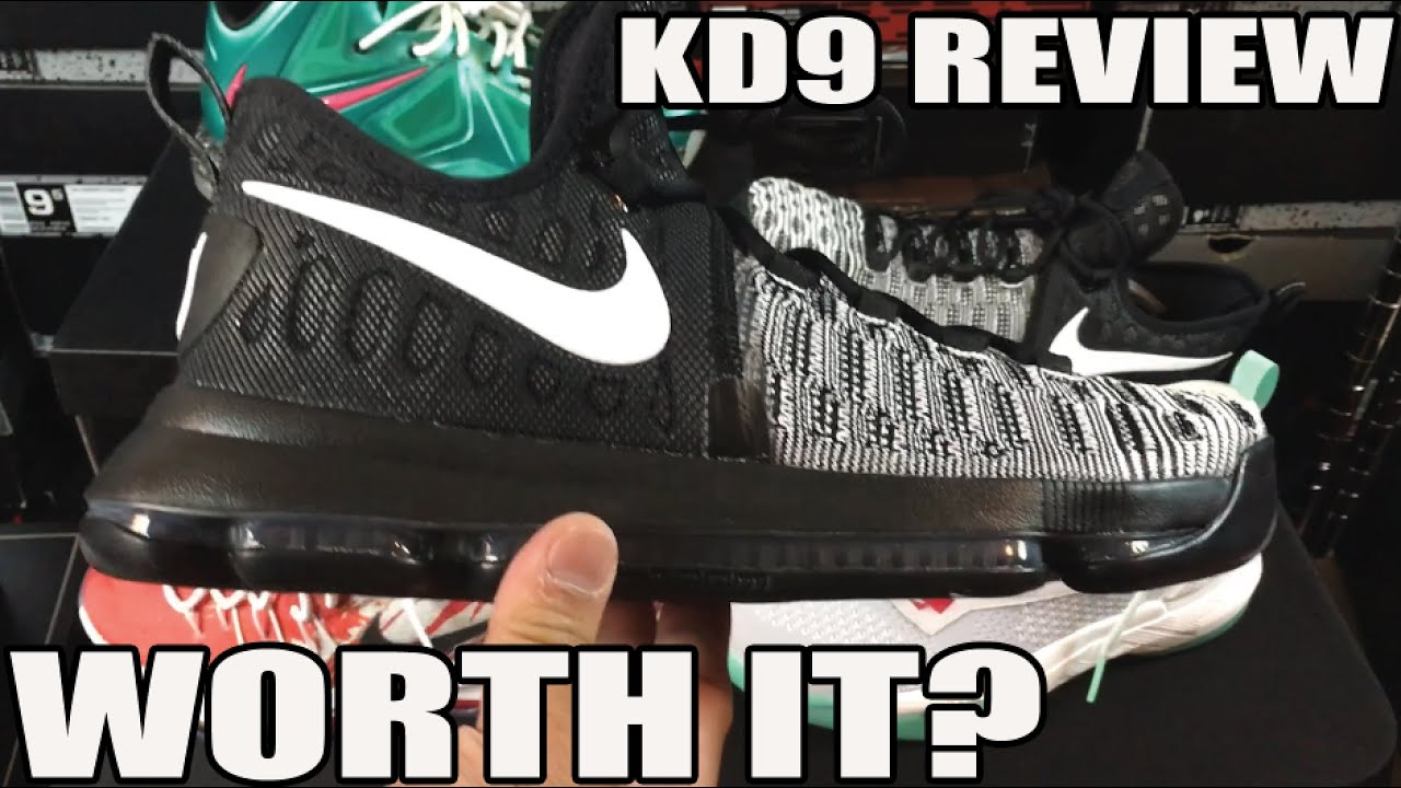Nike KD 9 Review / Comparison / On Feet - YouTube