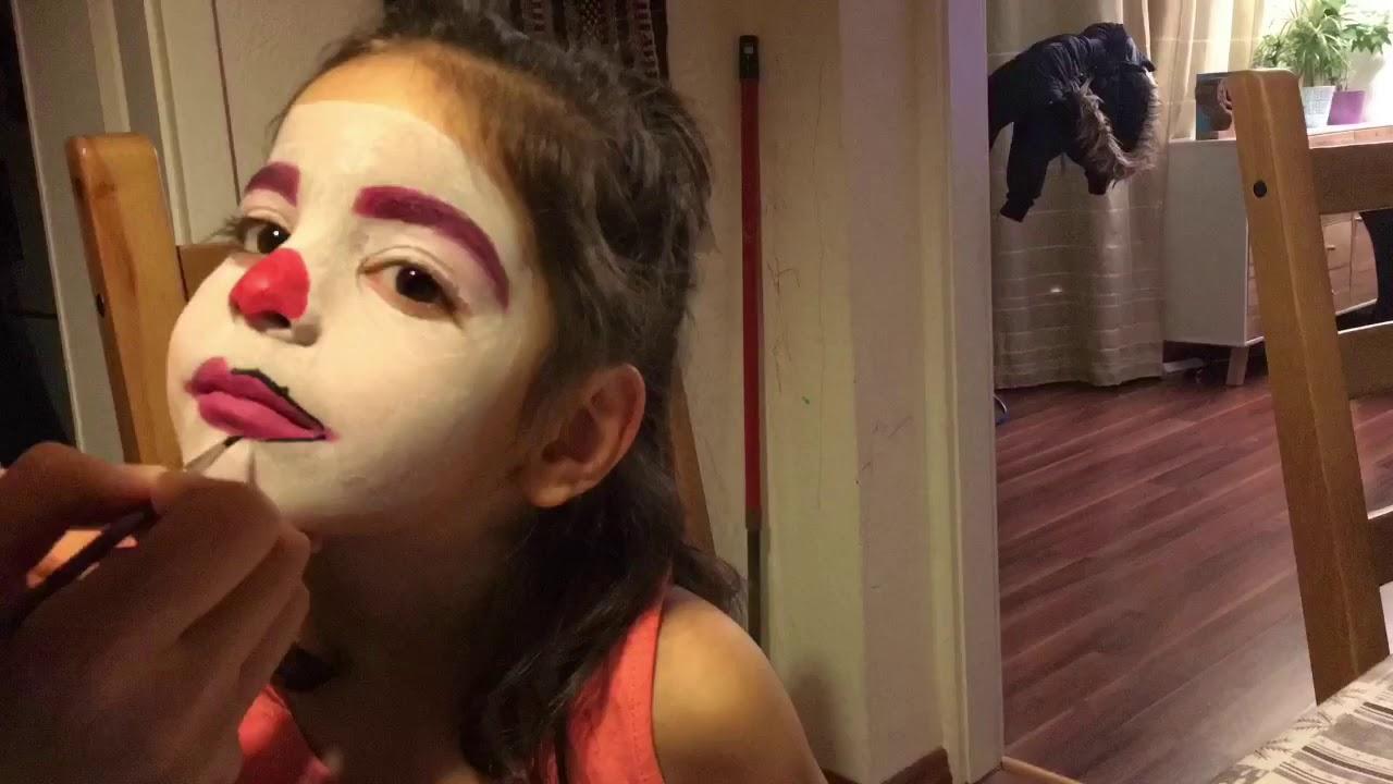 Yuz Boyama Palyaco Makyaji Clown Facepainting Youtube