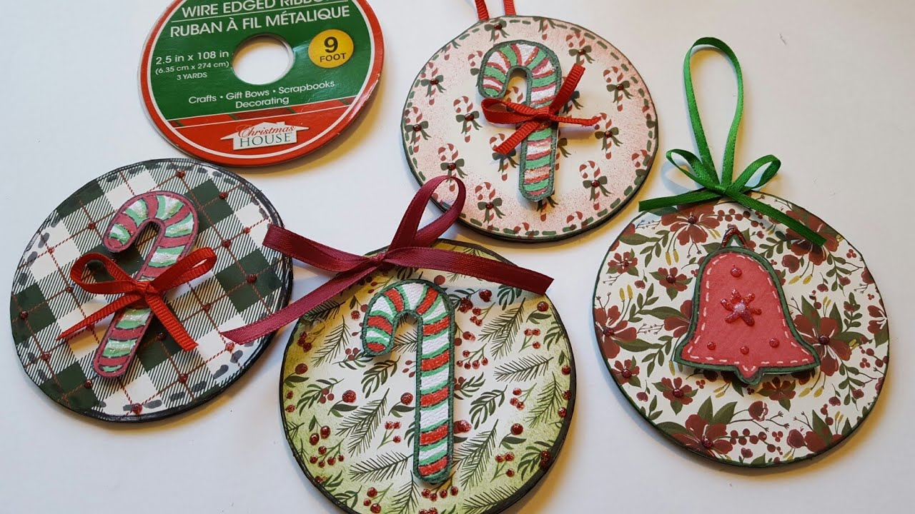 Christmas ornaments refrigerator magnets upcycled for Where to buy magnets for crafts