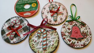 CHRISTMAS ORNAMENTS & REFRIGERATOR MAGNETS | UPCYCLED CRAFTS