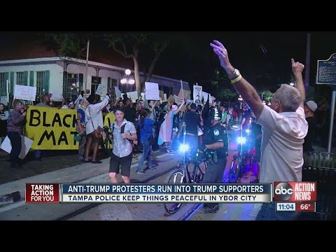 anti-trump-protesters-accidentally-march-into-marine-corps-pub-crawl-and-things-escalated-quickly