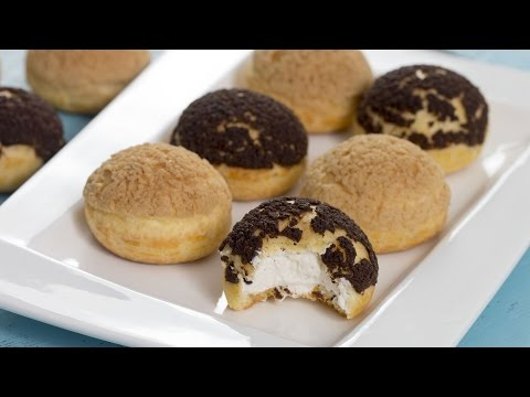 Choux au Craquelin - Crispy Cream Puffs