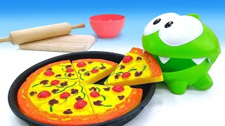 Om Nom. How to Make Play-Doh Pizza