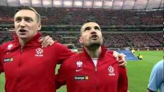 Marcin Wasilewski, Grzegorz Krychowiak i Przemysław Tytoń - żywiołowe wykonanie hymnu
