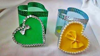 Подарочная упаковка из пластиковой бутылки ко дню святого Валентина
