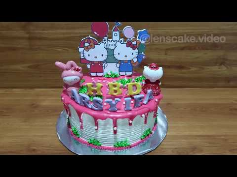 Recipe How to Make Birthday Cake Hello Kitty Easy and Beautiful Without Nozzle