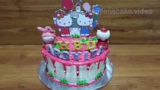 Resep Cara Membuat Kue Ulang Tahun Hello Kitty Yang Mudah dan Cantik Tanpa Spuit