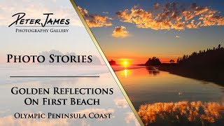 """""""Golden Reflection on First Beach"""" - Landscape Photography Stories"""