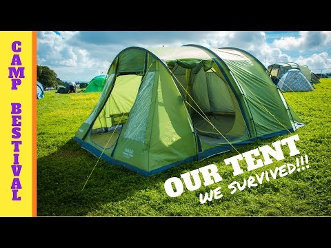 Camp Bestival 2017 / Our Tent TESTED by HEAVY RAIN and STRONG WIND / Vango Odyssey 500