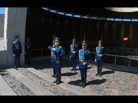 Volgograd. Mamayev Kurgan - The Honor Guard of Eternal Flame [4K]