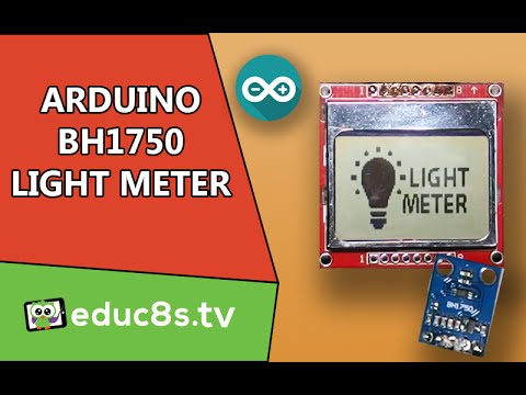 Arduino Project: BH1750 Light meter illuminance sensor DIY using Nokia 5110 tutorial project